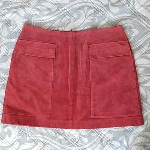 NWT Zara rust coloured suede miniskirt
